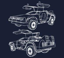Delorean Time Machine T-Shirt
