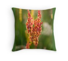 Wild pink flowers from Meadow flower collection  Throw Pillow