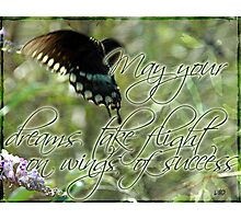 Flight of the Butterfly~ Success Photographic Print