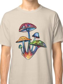 Cluster of Colored Shrooms Classic T-Shirt