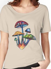 Cluster of Colored Shrooms Women's Relaxed Fit T-Shirt