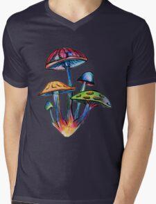 Cluster of Colored Shrooms Mens V-Neck T-Shirt