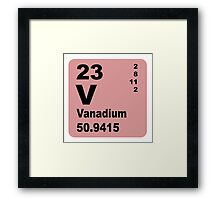 Vanadium Periodic Table of Elements Framed Print