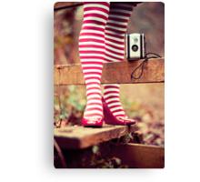 Socks and Camera Canvas Print