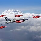 Final Vulcan Flight With The Red Arrows  - 3 by Colin  Williams Photography