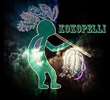 Kokopelli Fertility Deity by WhiteOaksArt