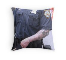 Strong arm of the law Throw Pillow