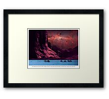 First Peoples in the Canyon de Chelly Framed Print