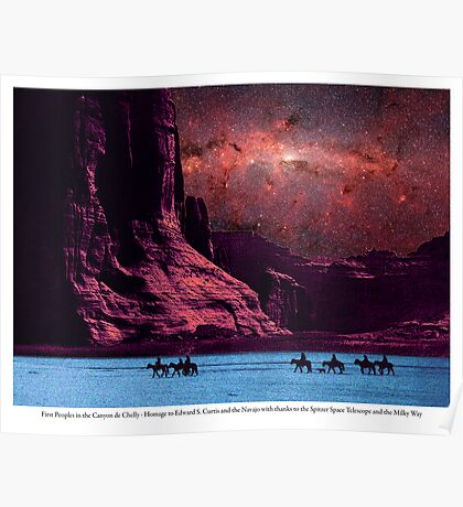 First Peoples in the Canyon de Chelly Poster