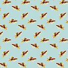 Goldfish on Sky Blue by ThistleandFox