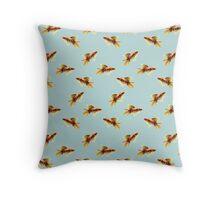 Goldfish on Sky Blue Throw Pillow