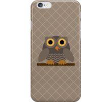 Sitting Grey Owl  iPhone Case/Skin
