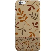Fall Color Assorted Leaf Silhouettes II iPhone Case/Skin