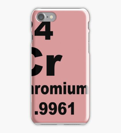 Chromium Periodic Table of Elements iPhone Case/Skin