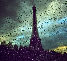 Eiffel in the rain... oh so romantic! by Gursimran Sibia