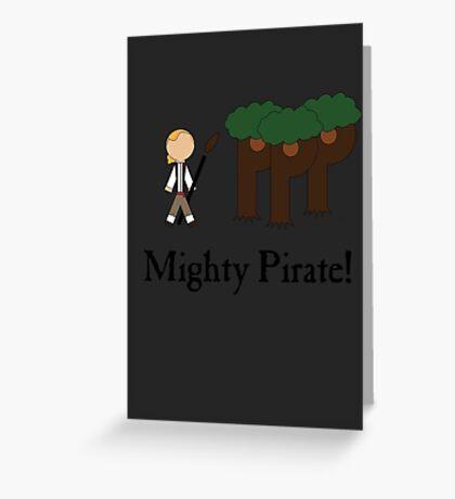 Guybrush Threepwood Mighty Pirate Greeting Card