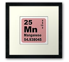 Manganese Periodic Table of Elements Framed Print