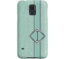 1920s Blue Deco Swing with Monogram letter i Samsung Galaxy Case/Skin