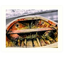 Boat rusting on Anglesey  Art Print