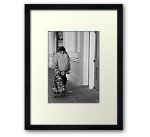 Voo Doo Blue Framed Print