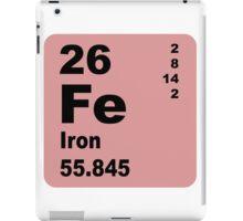 Iron Periodic Table of Elements iPad Case/Skin