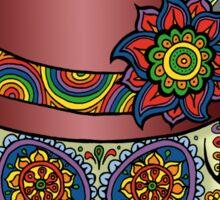 Sugar Skull Two - Mexican Top Hat - Dia de Los Muertos Sticker