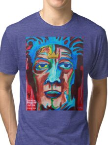 'Portrait of Jean-Michel Basquiat' Tri-blend T-Shirt