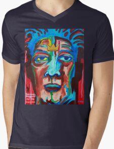 'Portrait of Jean-Michel Basquiat' Mens V-Neck T-Shirt
