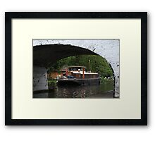 Houseboat on the Grand Union canal Framed Print