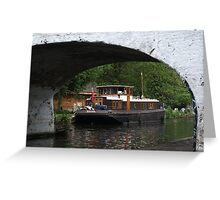 Houseboat on the Grand Union canal Greeting Card