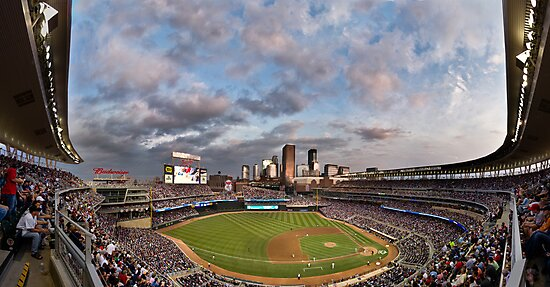 Target Field Sky Line - GO TWINS! by Peter Thorpe