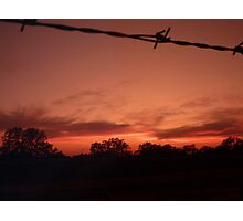 Wildfire Sunset Photographic Print