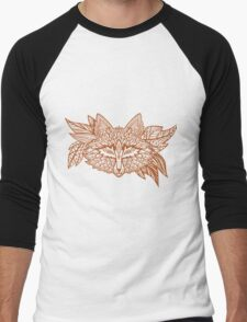 Fox head. Native american style. Ethnic fox totem Men's Baseball ¾ T-Shirt