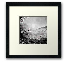 The red sounds and poems, Chapter II Framed Print