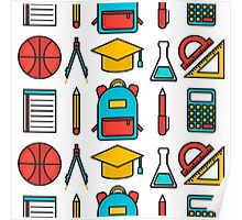 Back To School Pattern Poster