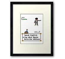 Pulp Fiction - Say What Again? Framed Print