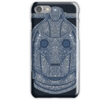 Snowflake Cyberman - Silver iPhone Case/Skin
