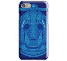 Snowflake Cyberman - Tardis Blue iPhone Case/Skin