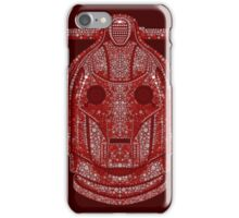Snowflake Cyberman - Berry Red iPhone Case/Skin