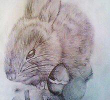 Bunny's 3 eggs by tabby1292