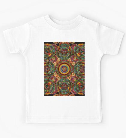 colorful circle abstract Kids Tee