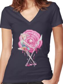 Steven Universe - Dancing Pearl Women's Fitted V-Neck T-Shirt