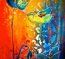The Poppy Journals...Blue and Red by ©Janis Zroback