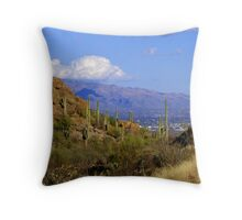 Sneaking Up on Tucson Throw Pillow