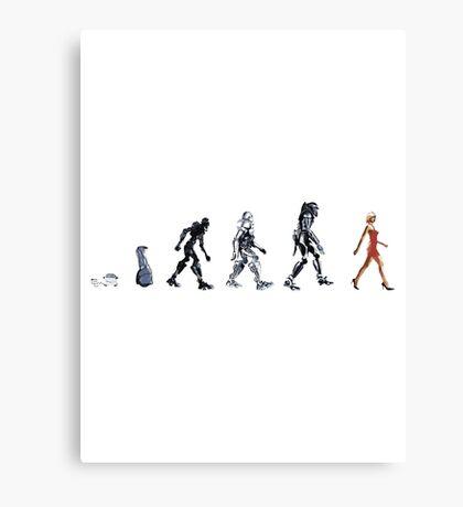 Evolution of The Cylon Canvas Print