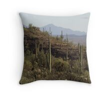 Hills are Alive -- with Cactus! Throw Pillow