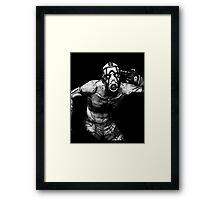 Borderlands - Psycho B & W (2) Framed Print