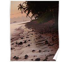 Rocks at Sunset Lahaina Maui, Hawaii Poster