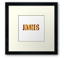 King James Lebron James Framed Print