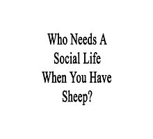 Who Needs A Social Life When You Have Sheep?  by supernova23